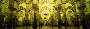 Interiors of a Cathedral, La Mezquita Cathedral, Cordoba, Cordoba Province, Spain