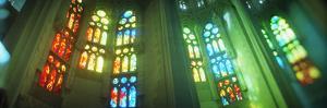 Interiors of a Church Designed by Catalan Architect Antonio Gaudi, Sagrada Familia, Barcelona, C...