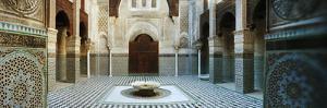 Interiors of a Medersa, Medersa Bou Inania, Fez, Morocco