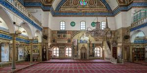 Interiors of a mosque, El-Jazzar Mosque, Acre (Akko), Israel