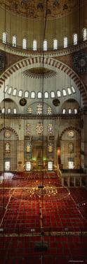 Interiors of a Mosque, Suleymanie Mosque, Istanbul, Turkey