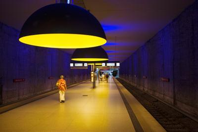 Interiors of an Underground Station, Westfriedhof, Munich U-Bahn, Munich, Bavaria, Germany