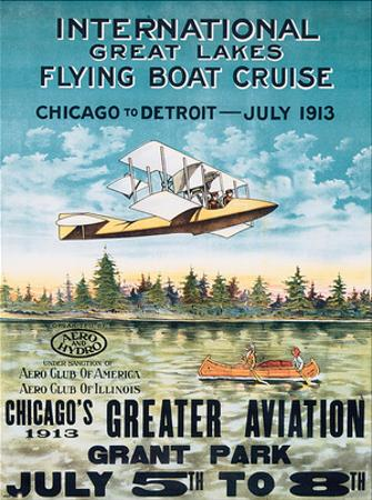 International Great Lakes Flying Boat Cruise, Chicago to Detroit, c.1913