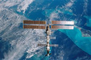 International Space Station (Over Miami) Art Poster Print