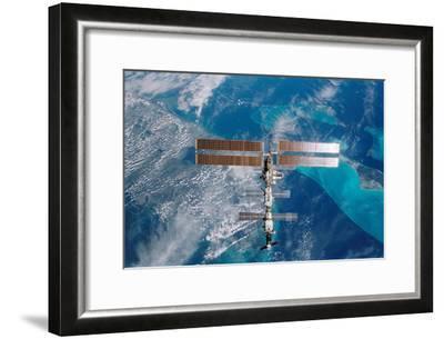 International Space Station (Over Miami) Art Poster Print--Framed Poster