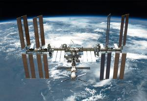 International Space Station Planet Earth 2 2011 Photo Poster