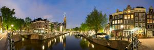 Intersection of Prinsengracht and Leidsegracht Canals at Night