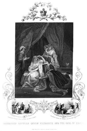 Interview Between Queen Elizabeth and the Earl of Essex, 19th Century by J Rogers