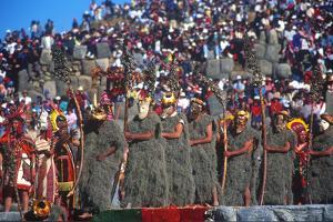 Inti Raymi, Incan Celebration, Cuzco, Andes Mountains, Peru