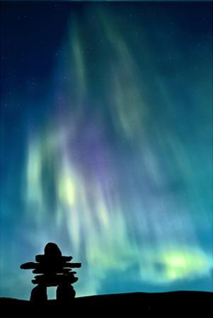 Inukshuk & Northern Lights