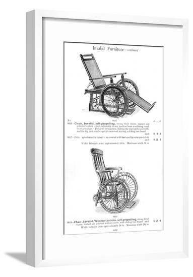 Invalid Chairs--Framed Giclee Print