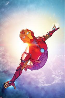 Invincible Iron Man #1, Sky, Clouds Cover Art