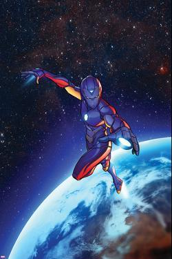 Invincible Iron Man #2, Space, Planet Cover Art