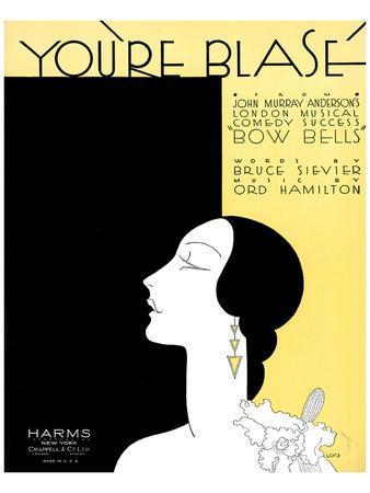 Song Sheet Cover: You're Blasé