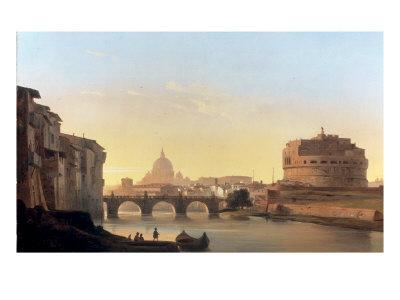 A View of Rome, with the Castel Sant'Angelo