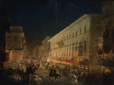 Festivals of Moccoletti (Tapers) (Carnival in Rome), 1852