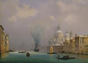 Venice under snow, c.1840 by Ippolito Caffi