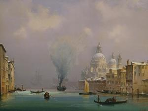 Venice under snow, c.1840 by Ippolito Caffi
