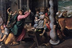 Christ Driving the Money Lenders from the Temple, 1580-1585 by Ippolito Scarsellino