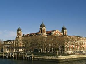 A View of Ellis Island by Ira Block