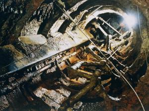 A View of the Corroded Interior of the H. L. Hunley by Ira Block