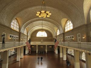 A View of the Great Hall on Ellis Island by Ira Block