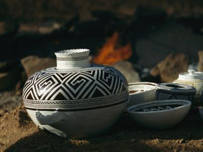 Close View of Pueblo Indian Pottery