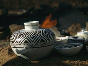 Close View of Pueblo Indian Pottery by Ira Block