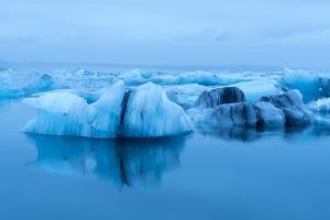 Jokulsarlon Lagoon in Southeast Iceland on the Edge of Vatnajokull National Park by Ira Block