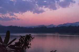 Sunset on the Mekong River Near Luang Prabang, Laos by Ira Block