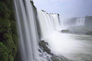 Mist Rising from the Massive Waterfalls on the Iguazu River by Ira Meyer