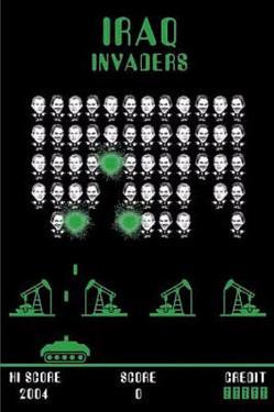 Iraq Invaders (Arcade Parody) Politics Poster