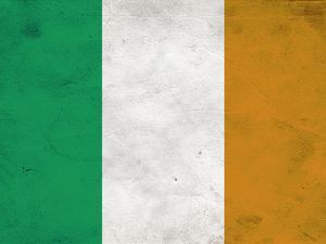 Ireland Flag Distressed Art Print Poster