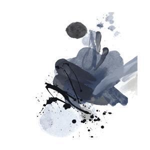 Blue & Black Splash I by Irena Orlov