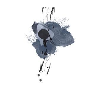 Blue & Black Splash II by Irena Orlov