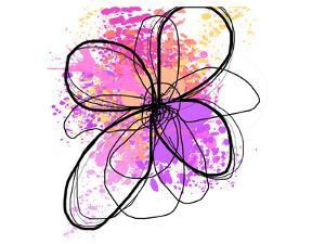 Rose Yellow Abstract Brush Splash Flower II by Irena Orlov