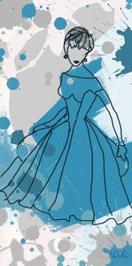 Women in Blue Dress by Irena Orlov