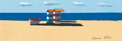 Dinghy and Shack II by Irene Celic