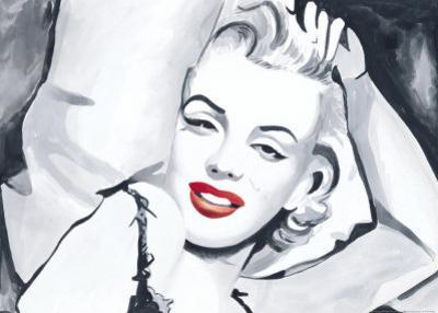 Marilyn Study in Bed by Irene Celic
