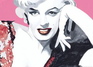 Marilyn Study with Dress by Irene Celic