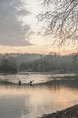 Kayakers on the Potomac River at Sunrise by Irene Owsley