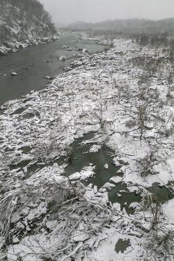 Looking North from Chain Bridge at the Potomac River in Winter by Irene Owsley