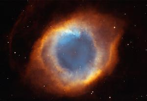 Iridescent Glory of Nearby Helix Nebula Space Photo Art Poster Print