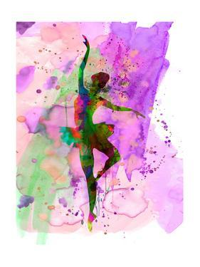 Ballerina Dancing Watercolor 1 by Irina March