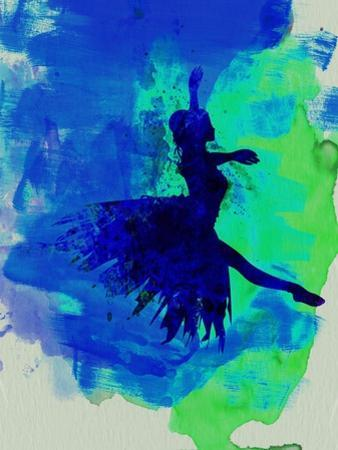 Ballerina on Stage Watercolor 5 by Irina March