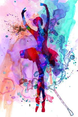 Ballerina's Dance Watercolor 3 by Irina March