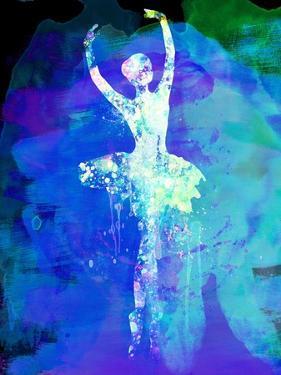 Ballerina's Dance Watercolor 4 by Irina March
