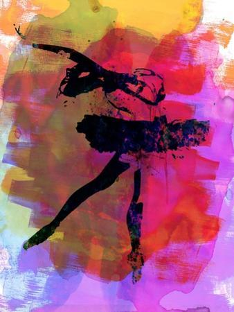 Black Ballerina Watercolor by Irina March