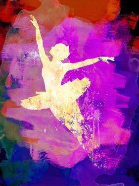 Flying Ballerina Watercolor 2 by Irina March