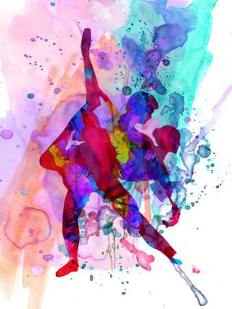 Romantic Ballet Watercolor 3 by Irina March